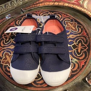 NWT Cat & Jack Navy & White Sneakers
